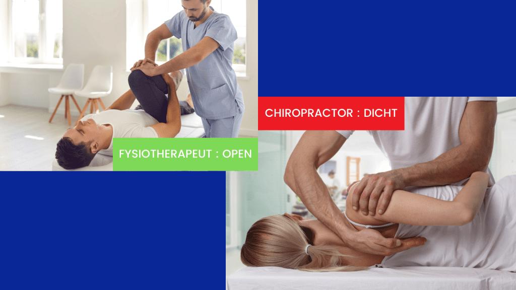 chiropractoren gesloten
